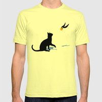 Cat And Snitch Mens Fitted Tee Lemon SMALL