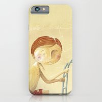 iPhone & iPod Case featuring Clovis goes off the boat by Sonia Poli