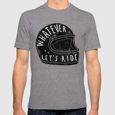 whatever Mens Fitted Tee Tri-Grey SMALL