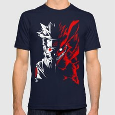 Naruto Mens Fitted Tee Navy SMALL