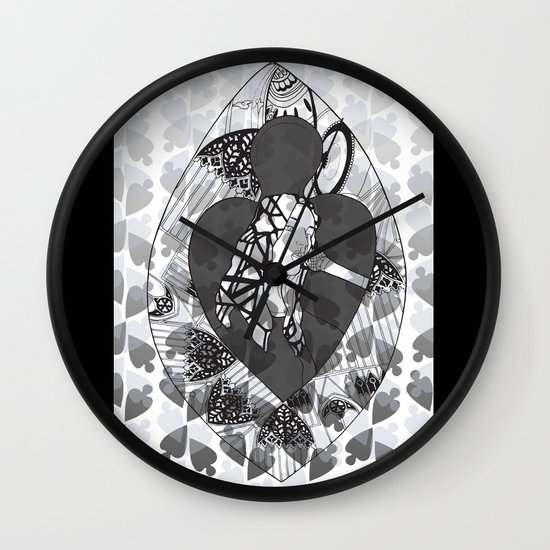 Stained Glass Illustration Wall Clock
