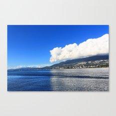 Blue vs. White Canvas Print