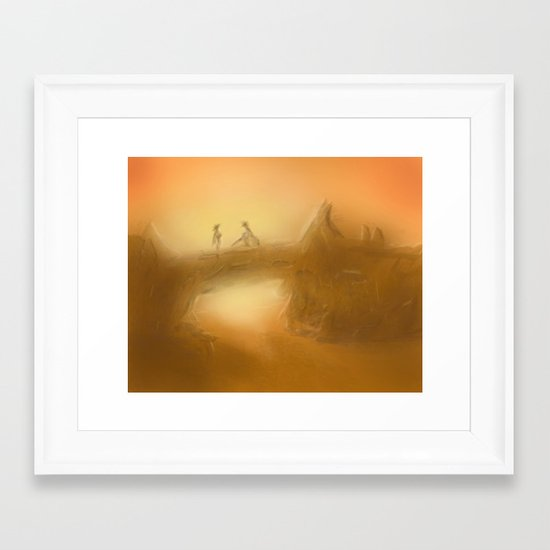 duel at dusk Framed Art Print
