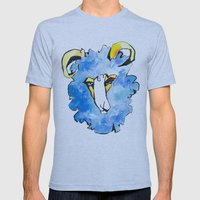 Sheep Mens Fitted Tee Athletic Blue SMALL