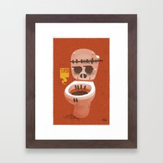 Toilet Bowl Framed Art Print