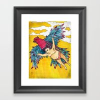 Lazy Tarzan - Flying Framed Art Print