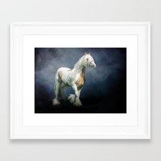 Under a gypsy moon Framed Art Print