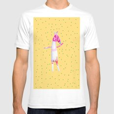 Horse SMALL White Mens Fitted Tee