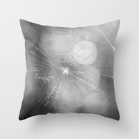 Spinning Tales In The Da… Throw Pillow
