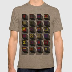 blocks Mens Fitted Tee Tri-Coffee SMALL