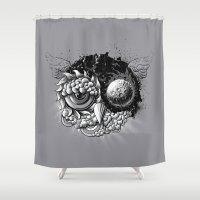 Owl Day & Owl Night Shower Curtain