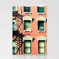 Orange Houses, New York Stationery Cards