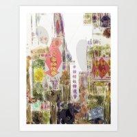 Impressions Of Chinatown… Art Print