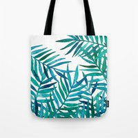 Watercolor Palm Leaves O… Tote Bag