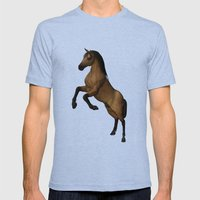 Divine Steed Mens Fitted Tee Tri-Blue SMALL