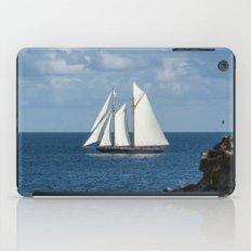 Blue Schooner 05 iPad Case