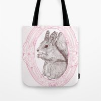 Cameo Squirrel Tote Bag