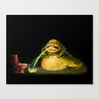 Star Wars Jabba The Hutt… Canvas Print