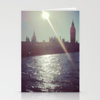 Big Ben Silhouette   Stationery Cards