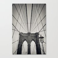 Brooklyn Bridge B/W | New York City Canvas Print