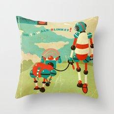Blinkey Throw Pillow