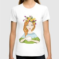 Spring Girl Womens Fitted Tee White SMALL