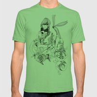 Aquarium Mens Fitted Tee Grass SMALL