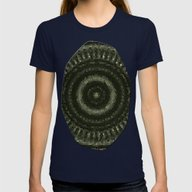 Fractal Kaleido Study 00… Womens Fitted Tee Navy SMALL