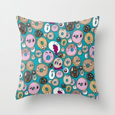 Donut Pattern Throw Pillow