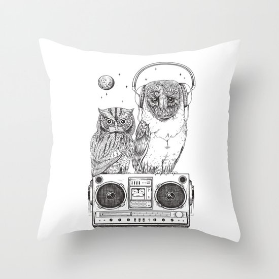 Silent Night ANALOG zine Throw Pillow