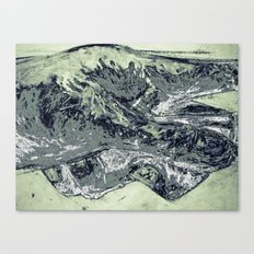 Abstracted hand in color  Canvas Print