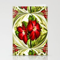 Exotic Flower Unrap Stationery Cards