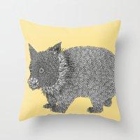 Little Wombat Throw Pillow