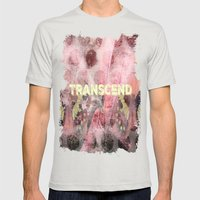 Transcend Mens Fitted Tee Silver SMALL