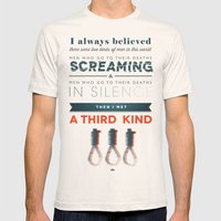 The Third Kind Mens Fitted Tee Natural SMALL