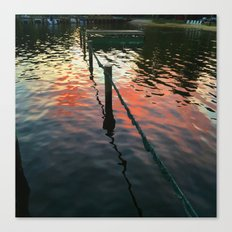 Red reflection at night, sailors delight Canvas Print