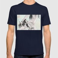 Double Grab Mens Fitted Tee Navy SMALL