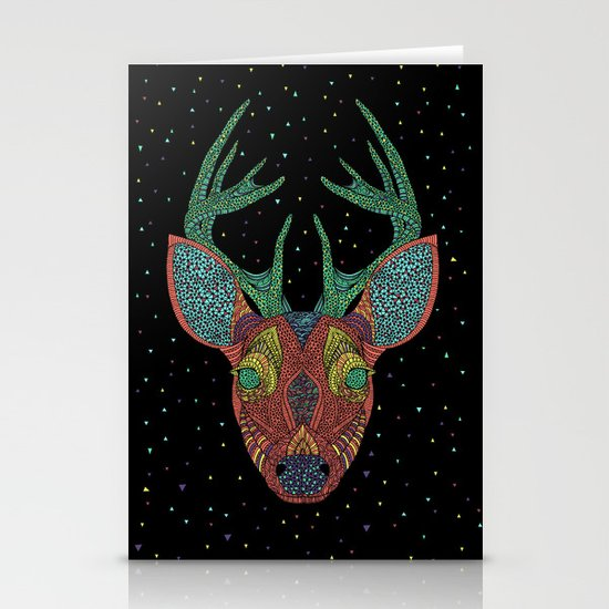 Intergalactic Deer Stationery Card