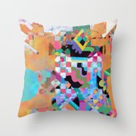 Senet Throw Pillow