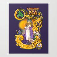 Tea Soothes The Mind Canvas Print