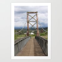 Tolt McDonald Bridge Art Print