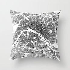 Paris Map Schwarzplan On… Throw Pillow