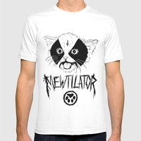 Mewtilator Mens Fitted Tee White SMALL