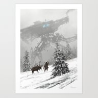 1920 - Winter Walker Art Print