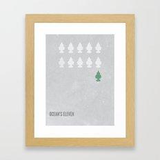 Ocean's Eleven Minimalist Poster.  Framed Art Print