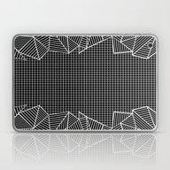 Grids And Stripes Black Laptop & iPad Skin