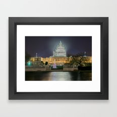 Christmas In The Distric… Framed Art Print