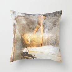 The Sacred and the Mundane Throw Pillow