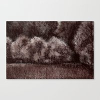 Sepia forest Canvas Print