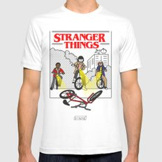 Stranger things Fanart Mens Fitted Tee White SMALL